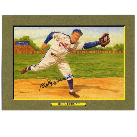 Billy Herman Signed Perez Great Moments No. 41
