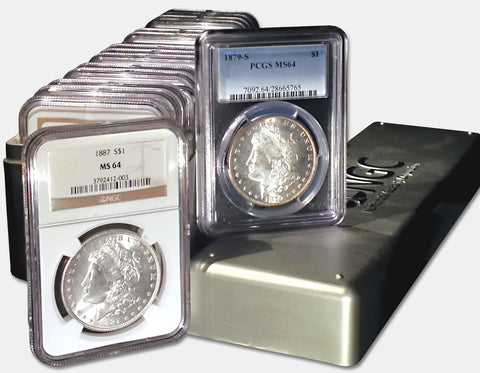 10 Different PCGS or NGC MS 64 Pre-1921 Morgan Dollars Deal