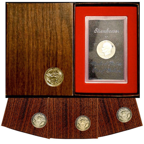 Proof 1971-1974 40% Eisenhower Dollars in Original Government Packaging - Superb Proof