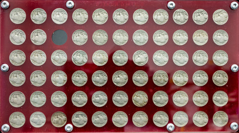 1913 to 1938 P•D•S Buffalo Nickel Set ~ Includes 1918/7-D & 1937-D 3 Leg ~ Nice Good to XF/AU