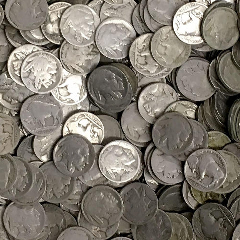 40-Coin Buffalo Nickel Rolls - No Date/Partial Date/Acid Date