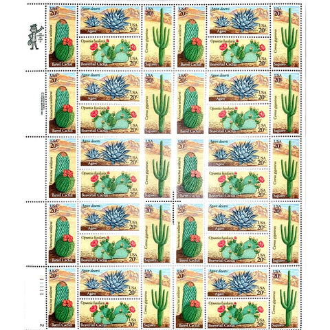 1981 20c Scott #1942-45 Desert Plants Sheet (40) - MNH