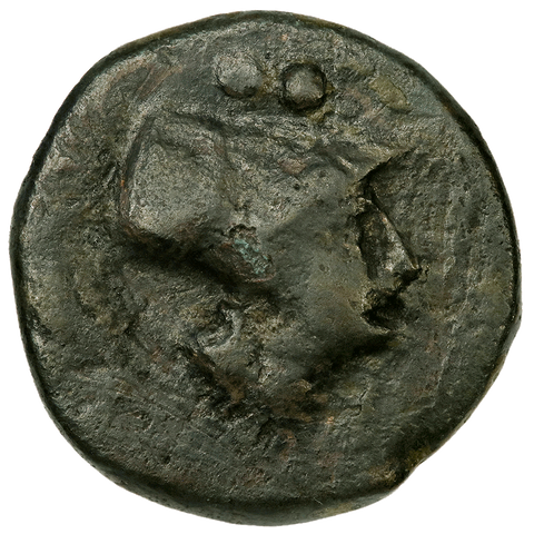 Ancient Greek - Apulia, Caelia AE19 Sextans, c. 220-150 BC, Fine
