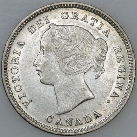 1893 Canada 5 Cent Silver KM.2 - XF/About Uncirculated