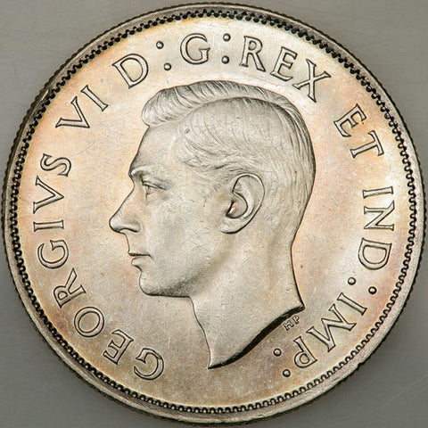 1938 Canada 50 Cent Silver KM.36 - PQ Brilliant Uncirculated