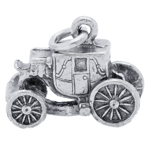 "Vintage Sterling Silver ""The Hermitage"" Carriage Charm"