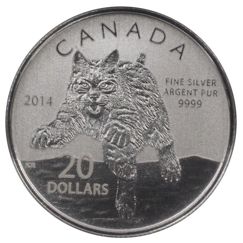 2014 Canada $20 Lynx Proof Silver Coin - Gem Proof in OGP w/ COA