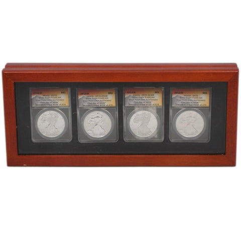 2013-W Silver Eagle 4-Coin ANACS Certified Set