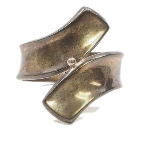Vintage Sterling Hinged Clamper Cuff Mexico
