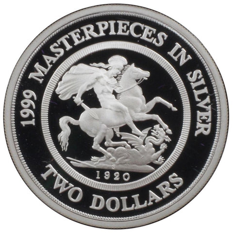 1999 Masterpieces in Silver Coins of the 20th Century - RAM - Gem Proof in OGP