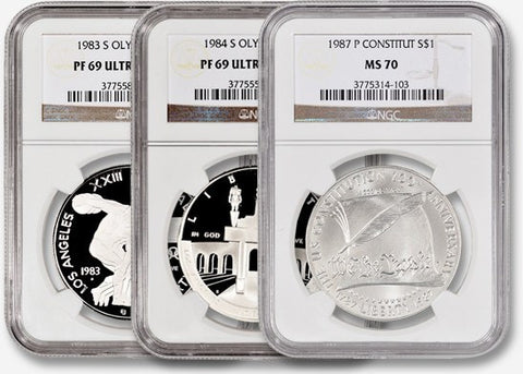 Commemorative Starter Set - 3 Different Coins - NGC 69