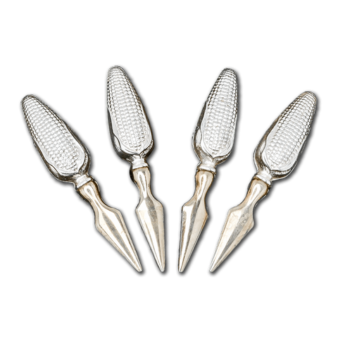 Two Sets of Vintage Sterling Silver Corn on the Cob Holders