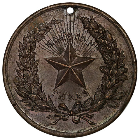 Late 1890s United Confederate Veterans Houston Texas Reunion Medal