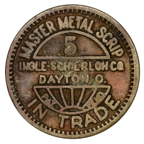 Tuscaloosa, AL Davis Creek Coal & Coke Co 5¢ Coal Scrip - Very Good/Fine