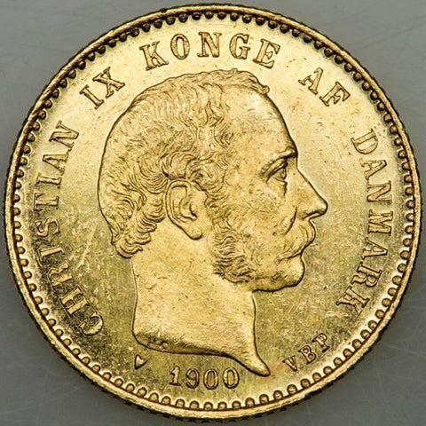 1900 HC/VBP Denmark Gold 10 Kronor KM.790.2 - PQ Brilliant Uncirculated