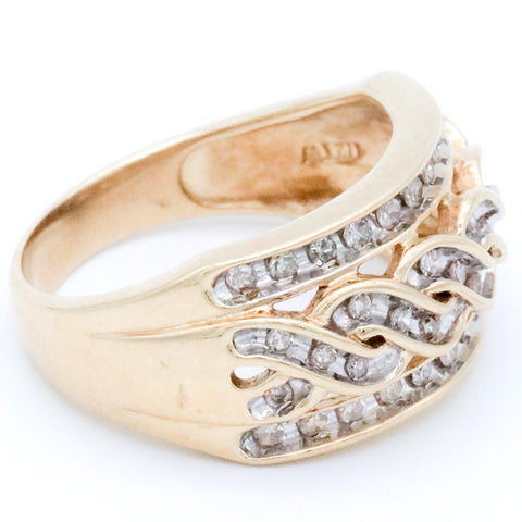 10K Gold Samuel Aaron Diamond Ring - Size 9