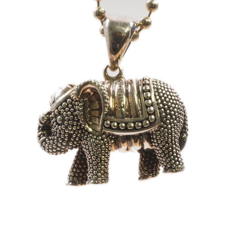 Lagos Wonder Caviar Elephant Sterling Pendant Necklace