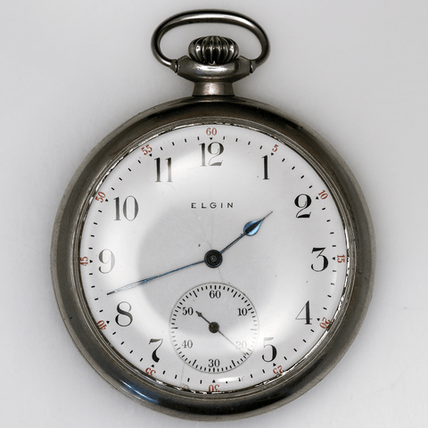 1905 Elgin Silveroid Pocket Watch - 15 Jewel, Model 3, Grade 304, Size 12s