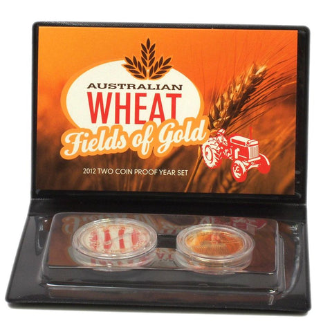 "2012 ""Australian Wheat: Fields of Gold"" Two Coin Proof Set - Gem Proof in OGP"