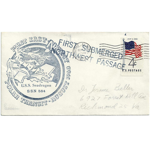 Sep 5, 1960 First Submerged Northwest Passage USS Seadragon SSN 584