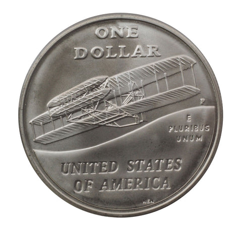 United States Mint First Flight Centennial Silver Dollar - PQBU in OGP w/ COA