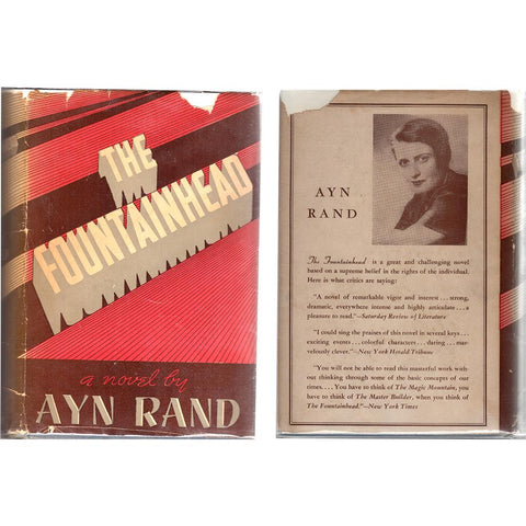Signed Early Edition/Printing - The Fountainhead by Ayn Rand - 1943, Bobbs-Merrill