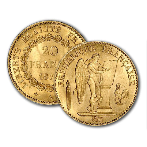 "French Gold 20 Franc ""Angel"" KM.825 - Premium Quality Brilliant Uncirculated"