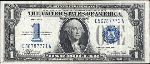 "1928 $1 ""Funnyback"" Silver Certificate Special"