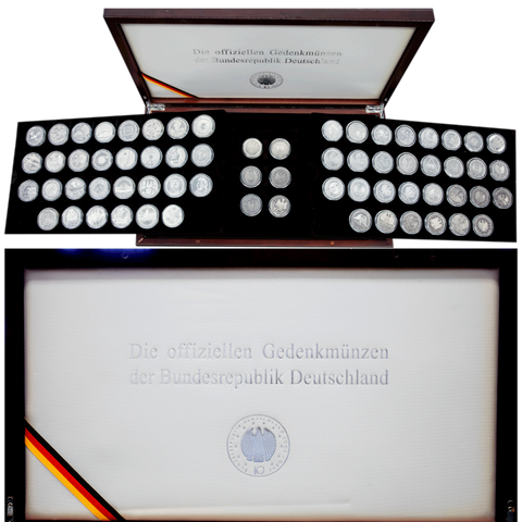 2002 to 2013 66-Coin Germany Commemorative Silver 10 Marks Set - Over 33.5 TOZ ASW