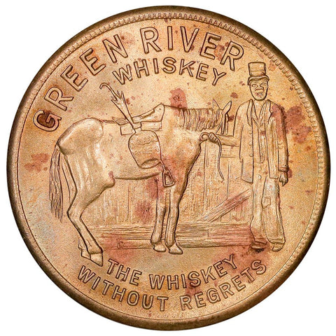 Owensboro, KY 1937 Green River Whiskey 32mm Bronze Token