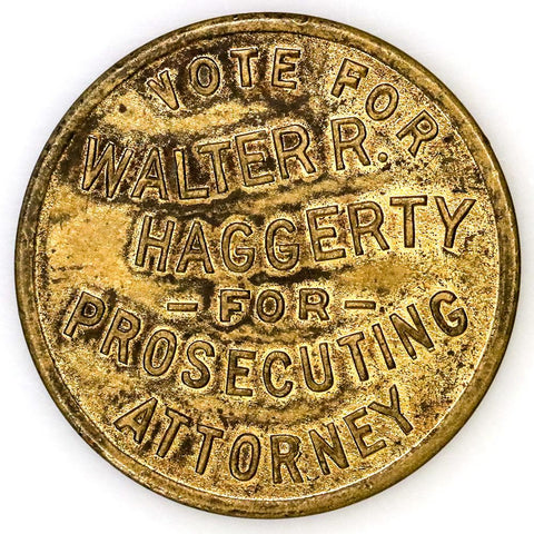 1916 Marion, West Virginia Vote Walter R. Haggerty (Scarce) - Extremely Fine