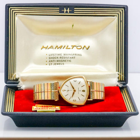 Hamilton Asymmetric Thor II Cal. 686 Wrist Watch - 17 Jewel, Gold Filled, Very Scarce