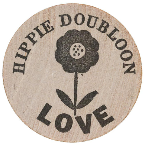 "1967 New Orleans, LA ""Hippie Doubloon"" Wooden Token - Gem Uncirculated"