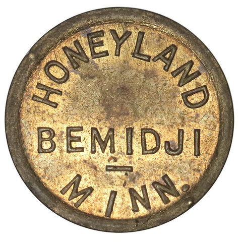 Bemidji, MN Honeyland Candy Kitchen 10¢ Trade Token - Red & Brown Uncirculated