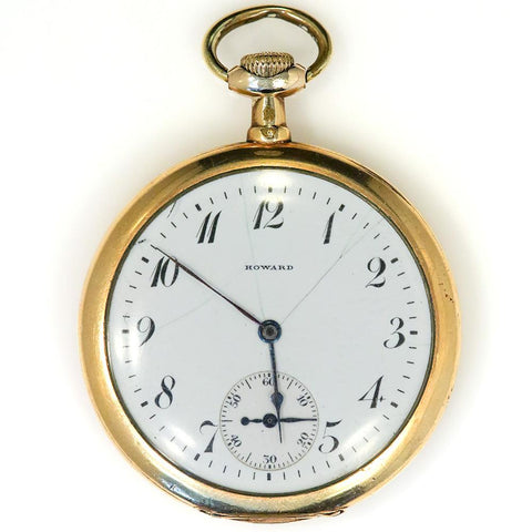 1915 E. Howard Series VII Gold Filled Pocket Watch - 17 Jewel, Size 12s, Strong Runner