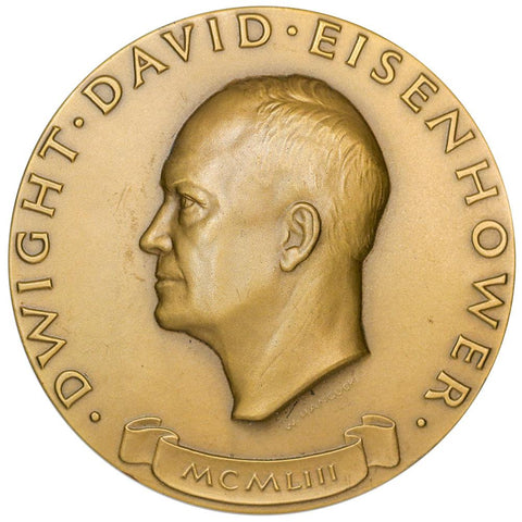 1953 Dwight D. Eisenhower Bronze Inauguration Medal 3""