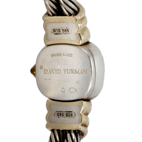 David Yurman Thoroughbred Cable 2-Row Sterling Silver & 14K Gold Watch