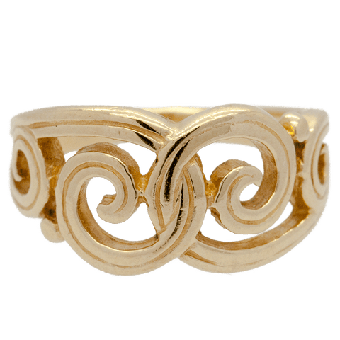 James Avery 14K Yellow Gold Gentle Wave Swirl Ring (Retired) - 3 3/4""