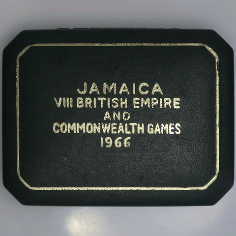 1966 Jamaica Proof 5 Shillings Commonwealth Games KM.40 - Gem Proof in Box
