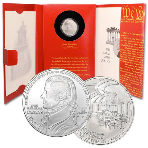 2005 John Marshall Commemorative Coin and Chronicles Set