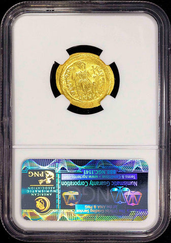 Byzantine Empire, Justin II AV Solidus Constantinople Mint, 565-578 AD, NGC Gem MS 5/5