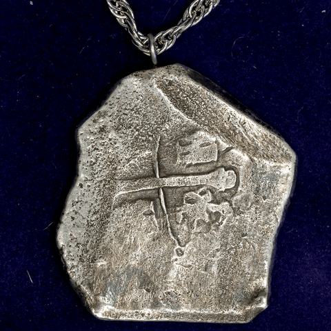 Mexico, 8 Reales Silver Cob (1701-1728) Philip V KM.47  - Date Off Flan - Fine Details on Necklace