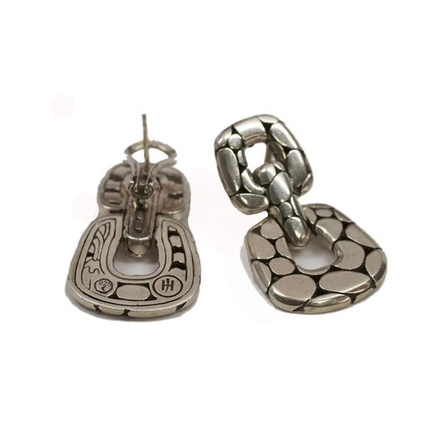 John Hardy Kali Sterling Door Knocker Earrings