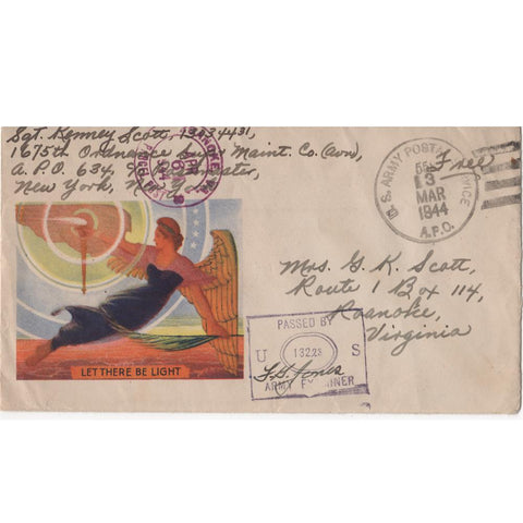 "Mar. 13, 1944 ""Let There Be Light"" WW2 Patriotic Cover"