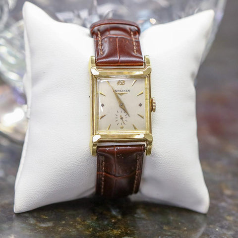 1952 Longines Advocate 9LT (25.17ABC) 14K Gold Watch