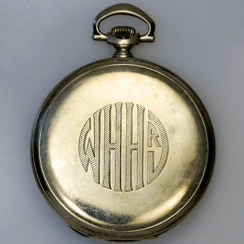 c.1925 Longines 14K Gold Openface Pocket Watch - Size 10, 17 Jewel, 9.5mm Thick
