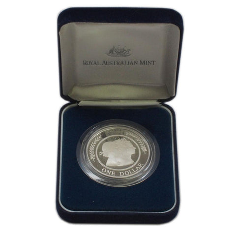 "1999 Australian Silver Proof Dollar ""Majestic Images"" - Gem Proof in OGP"