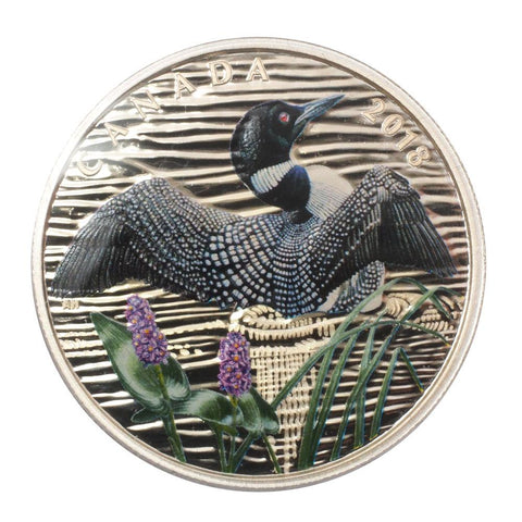"2018 Canadian $10 1oz Silver Coin ""The Common Loon: Beauty and Grace"" - PQBU in OGP"
