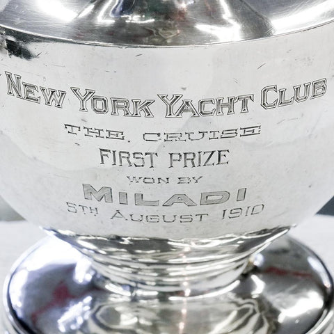 c. 1910 New York Yacht Club Sterling Trophy/Pitcher - Black, Starr & Frost