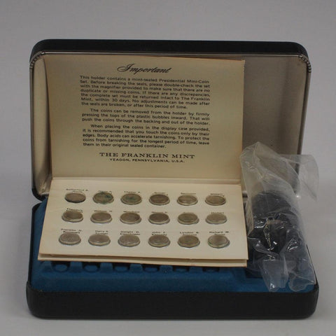 Franklin Mint First Edition Sterling Silver Presidential Mini Coin Set